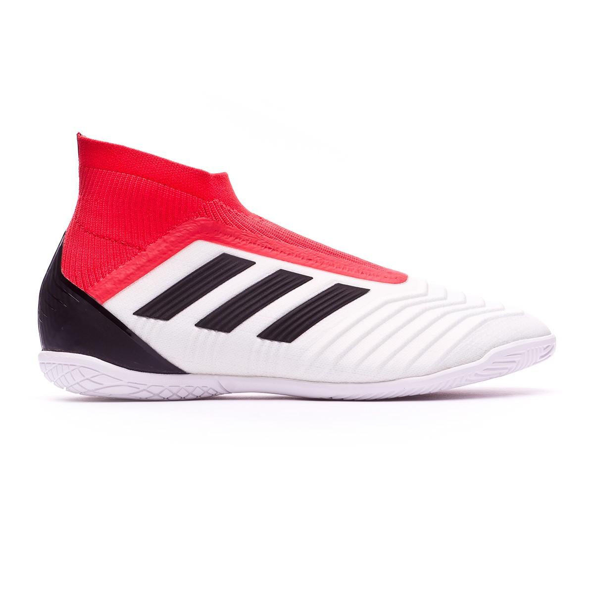 e89f179850008 Sapatilha de Futsal adidas Predator Tango 18+ IN Crianças White-Core  black-Real coral - Loja de futebol Fútbol Emotion