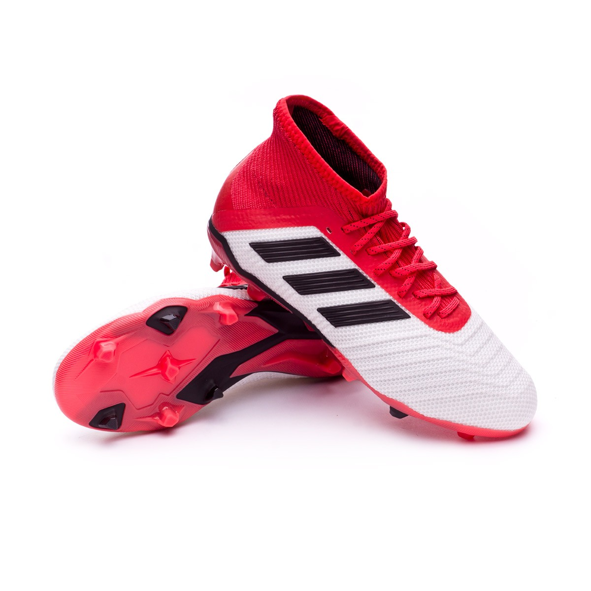 Zapatos de fútbol adidas Predator 18.1 FG Niño White-Core black-Real ... d2a2c71163be7