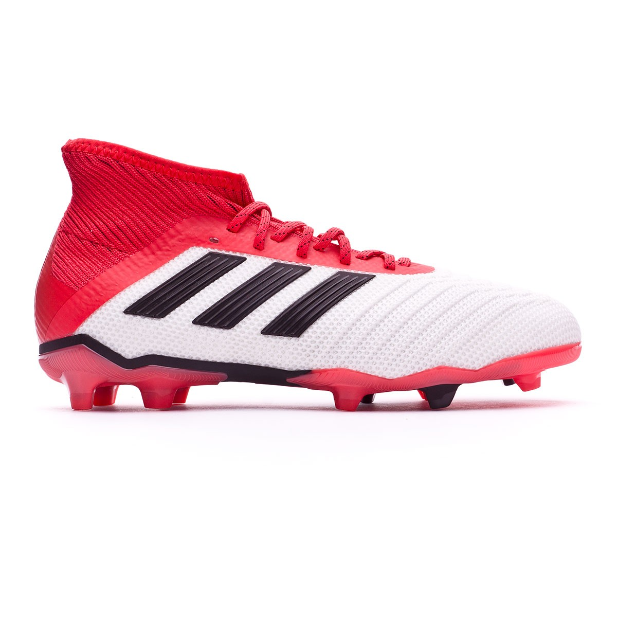 ce662ffb4600 Football Boots adidas Kids Predator 18.1 FG White-Core black-Real coral -  Tienda de fútbol Fútbol Emotion