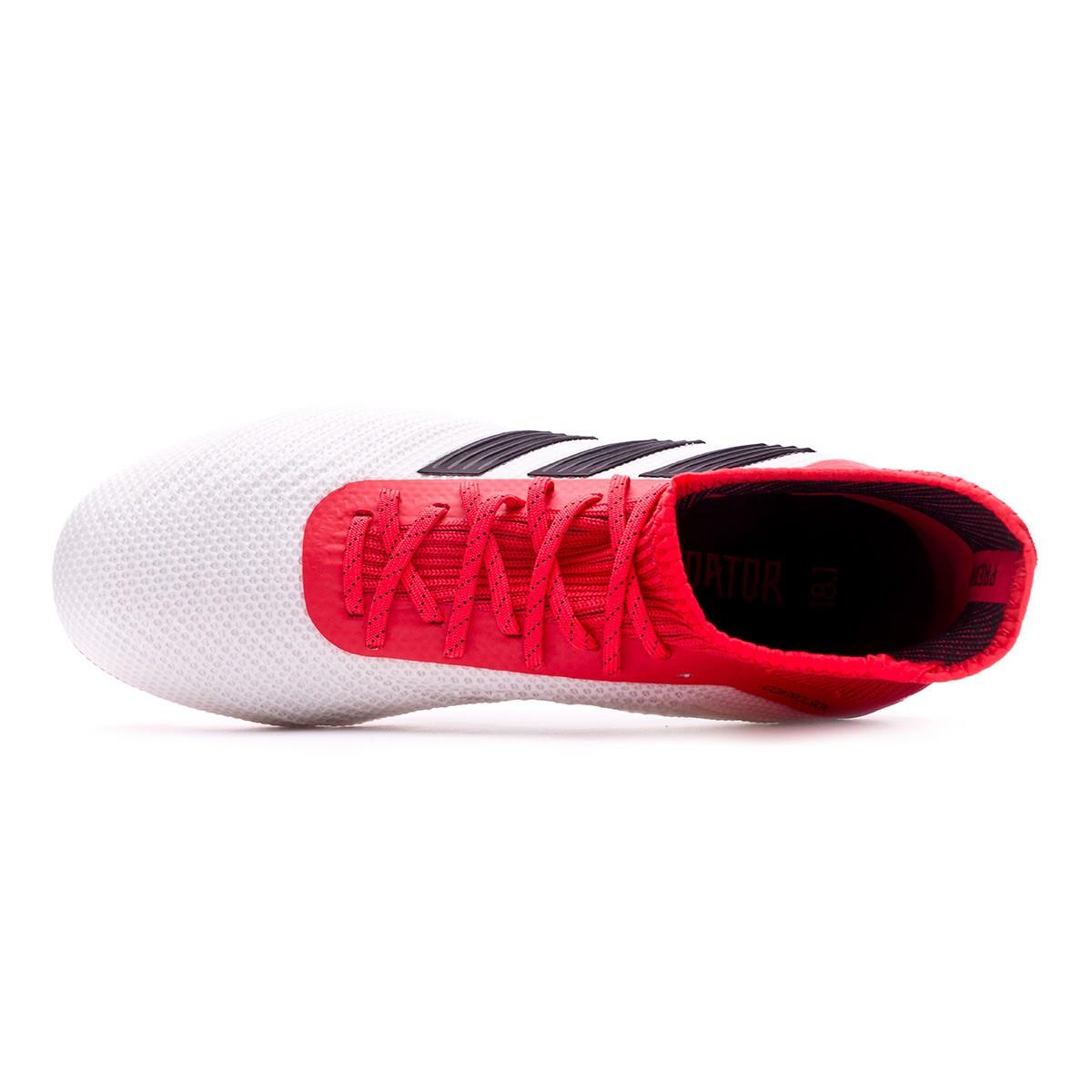 Adidas Predator 18,1 Fg Botín De Fútbol - Blanco / Negro De Coral / Reales
