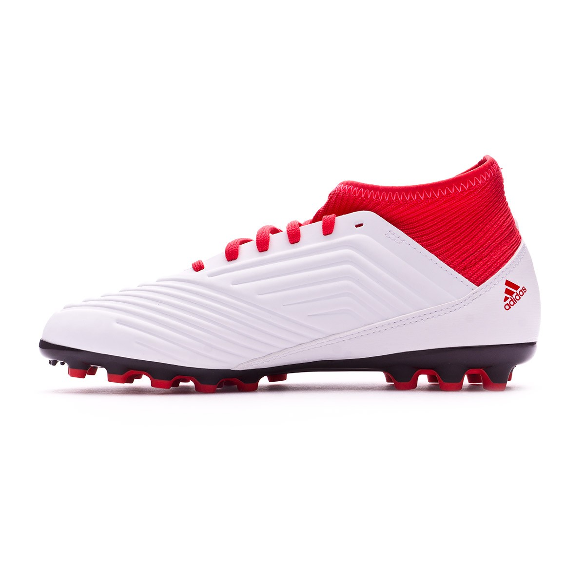 51d3f68a6de Football Boots adidas Kids Predator 18.3 AG White-Core black-Real coral -  Football store Fútbol Emotion