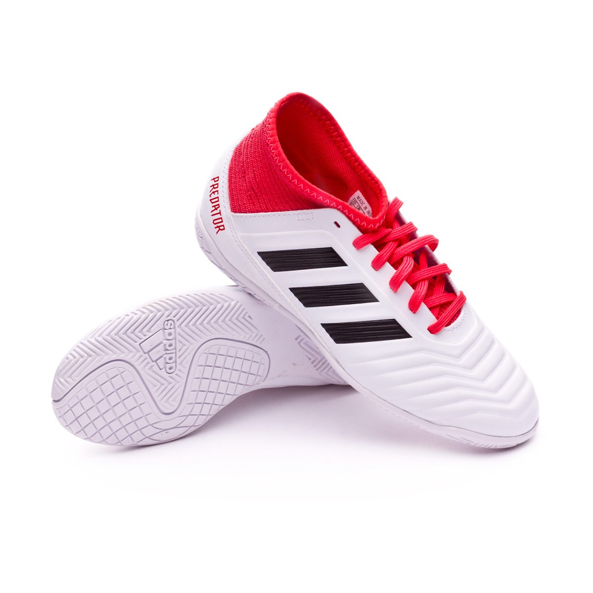 8e8bcc6d1f5 adidas Kids Predator Tango 18.3 IN Futsal Boot. White-Core black-Real coral  ...