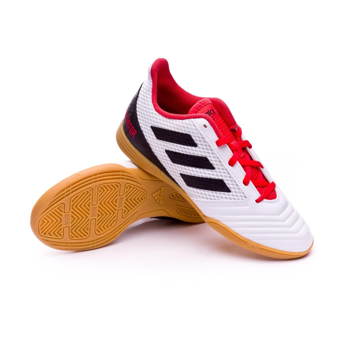 501f7955c3da3 Tenis adidas Predator Tango 18.4 Sala Niño White-Core black-Real coral -  Tienda de fútbol Fútbol Emotion
