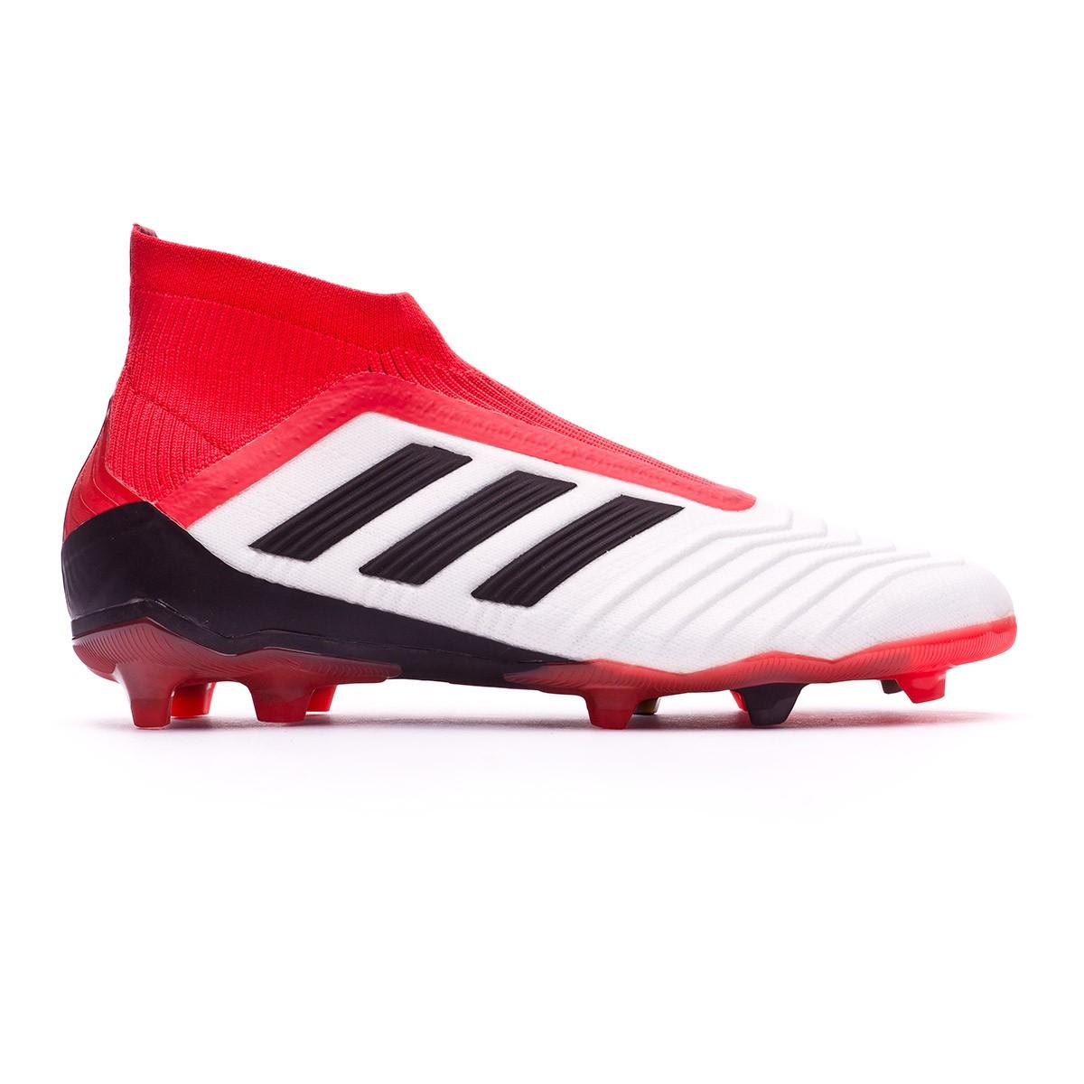 04652d7699de9 Zapatos de fútbol adidas Predator 18+ FG Niño White-Core black-Real coral -  Tienda de fútbol Fútbol Emotion