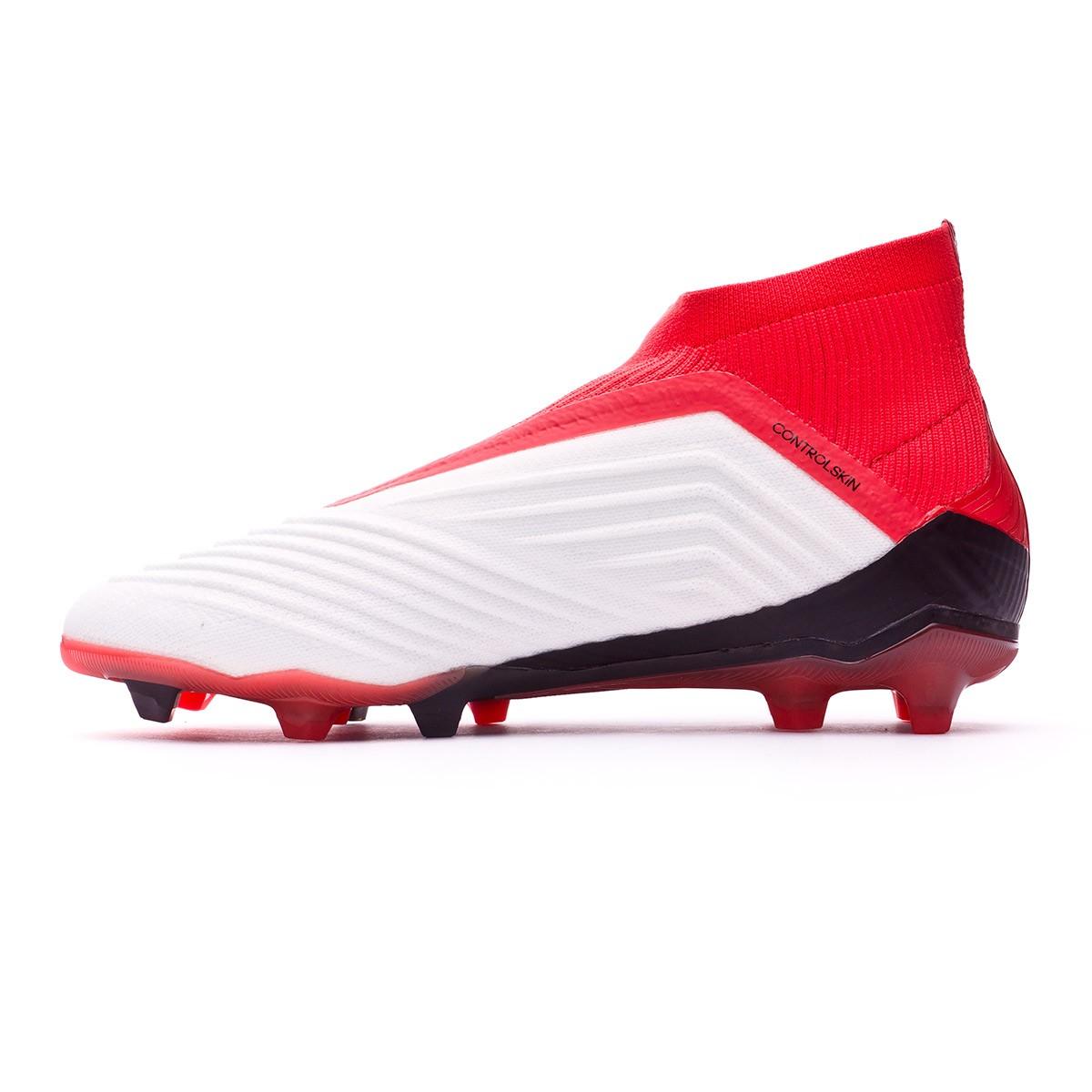 e7deb6d3036 Zapatos de fútbol adidas Predator 18+ FG Niño White-Core black-Real coral -  Tienda de fútbol Fútbol Emotion