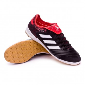 Sapatilha de Futsal  adidas Copa Tango 18.1 IN Core black-White-Real coral