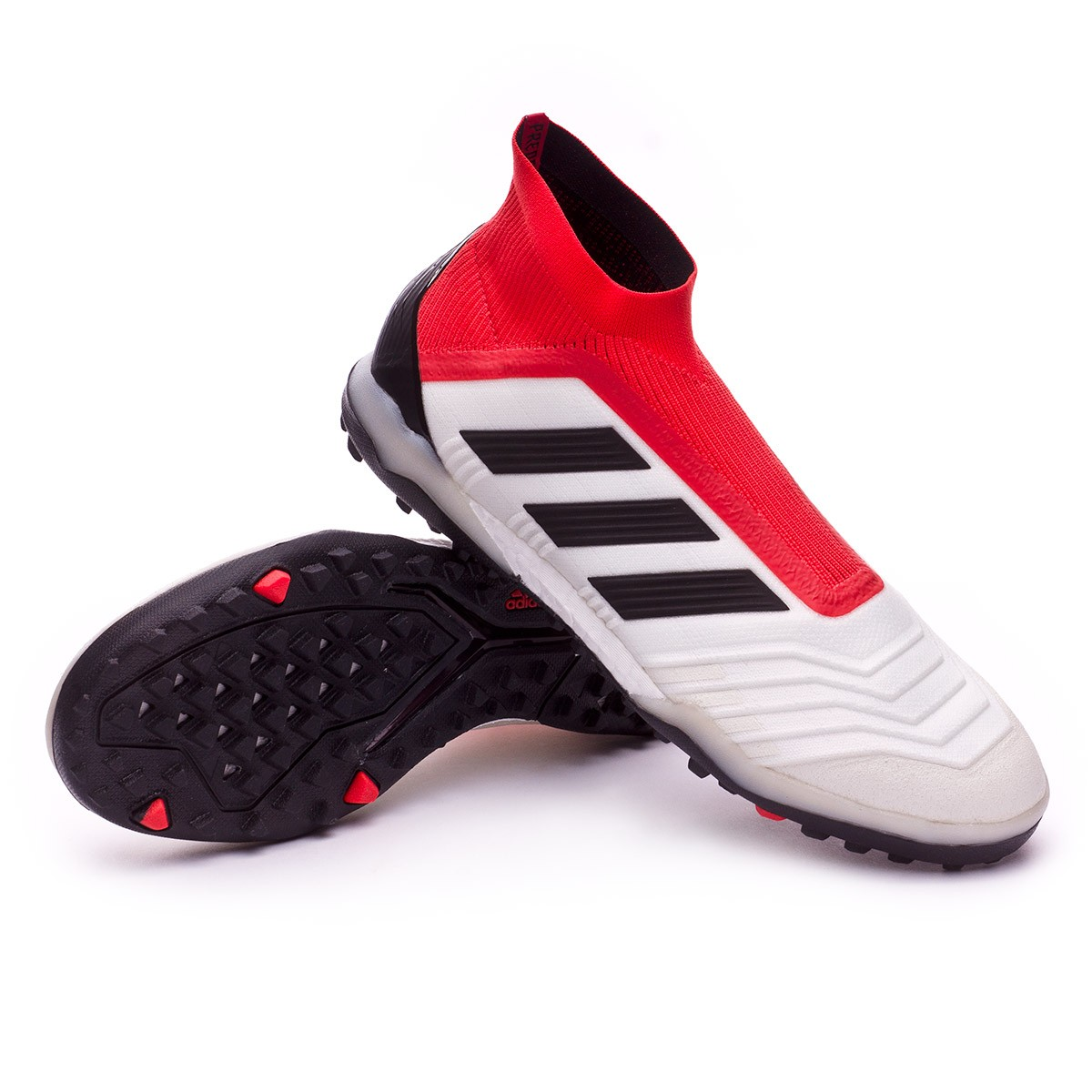 60cc7a6a7b67 adidas Predator Tango 18+ Turf Football Boot. White-Core black-Real coral  ...