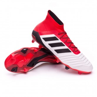 Chaussure  adidas Predator 18.1 FG White-Core black-Real coral