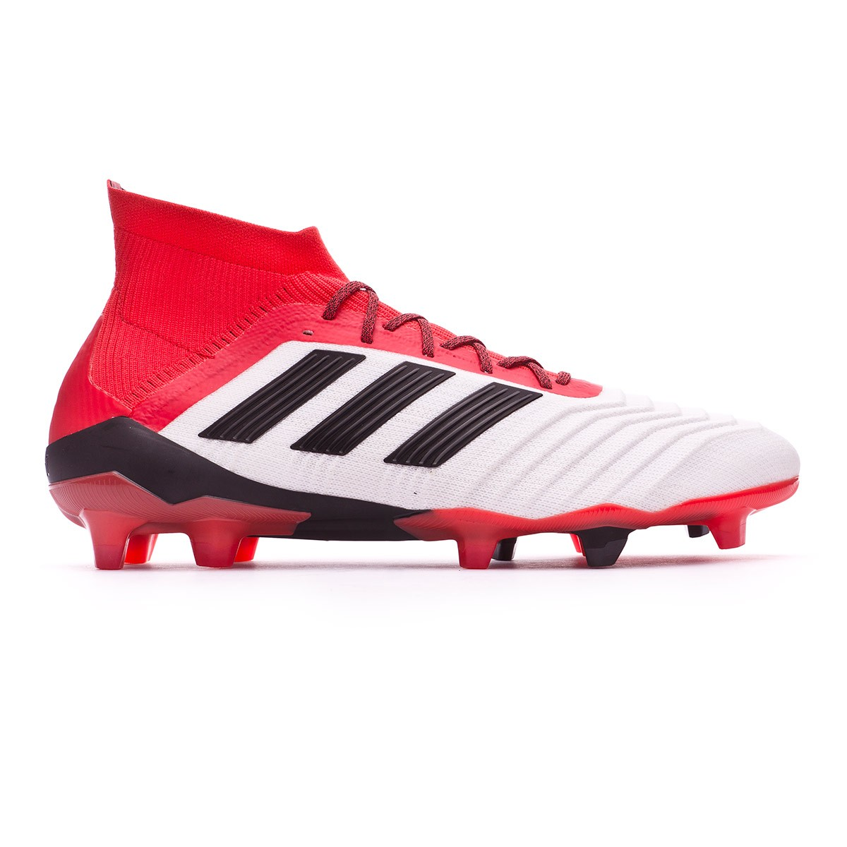 31a6e439c Football Boots adidas Predator 18.1 FG White-Core black-Real coral -  Football store Fútbol Emotion