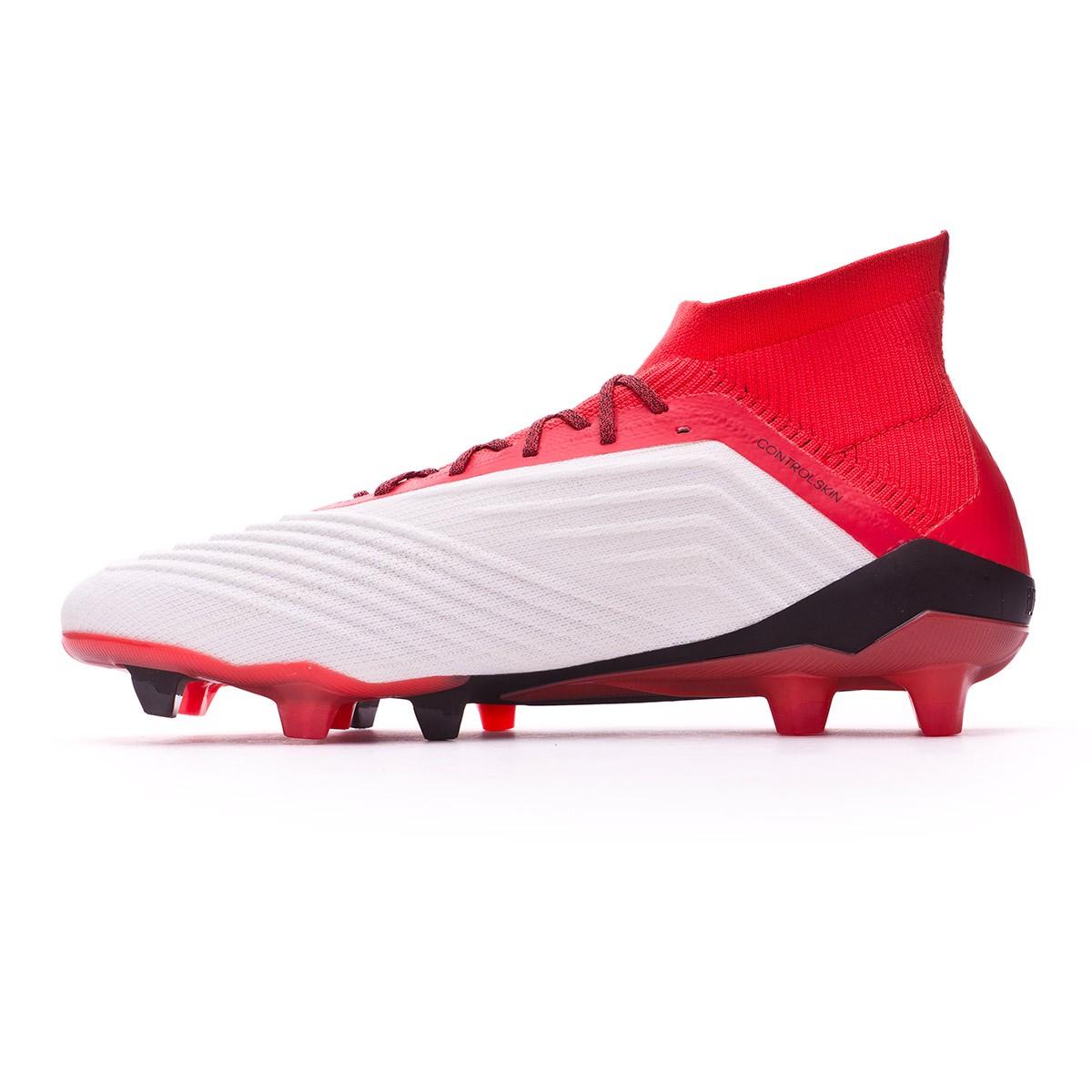 outlet store 8c222 5d707 Football Boots adidas Predator 18.1 FG White-Core black-Real coral - Tienda  de fútbol Fútbol Emotion