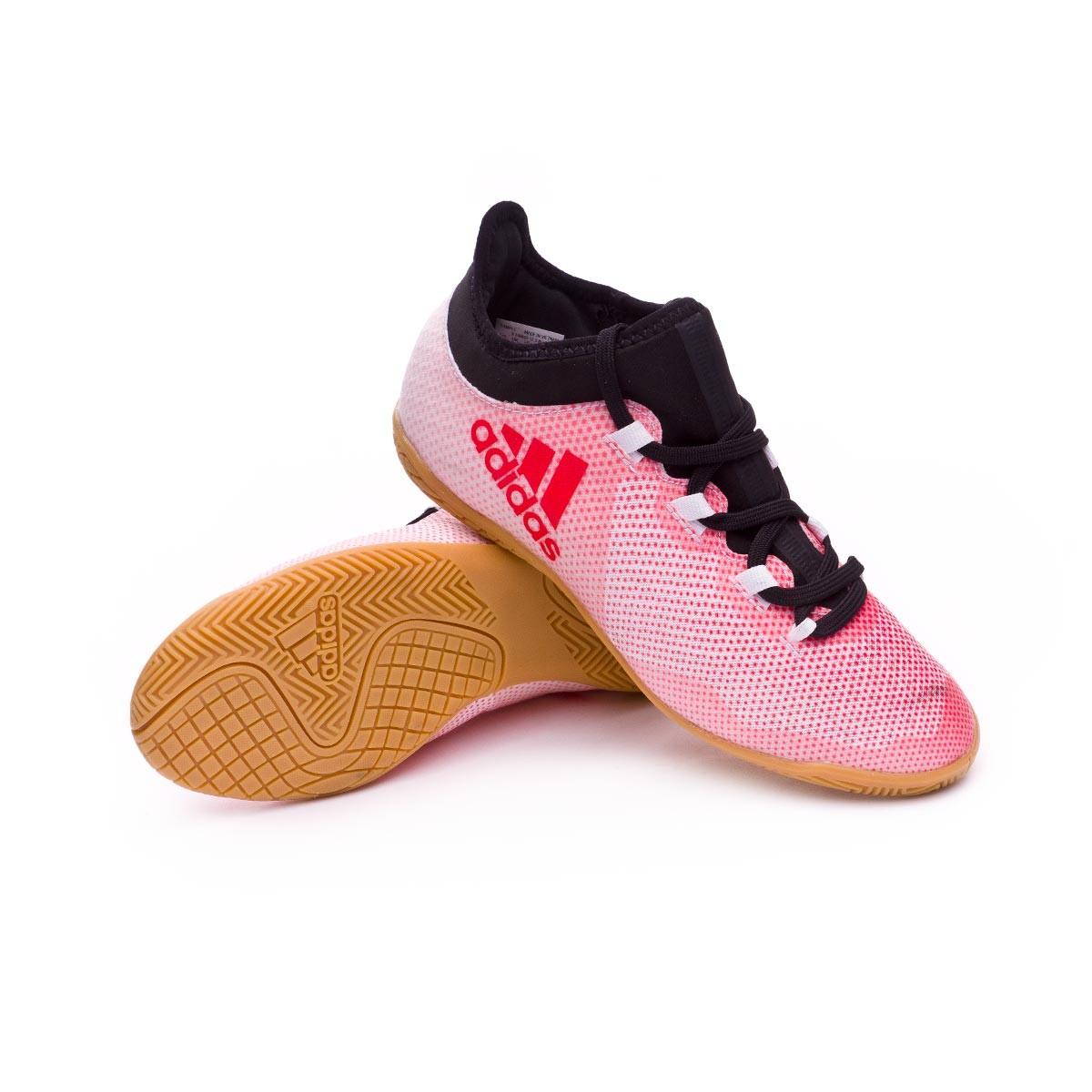 65a45c4537954 Chaussure de futsal adidas X Tango 17.3 IN enfant Grey-Real coral-Core  black - Boutique de football Fútbol Emotion