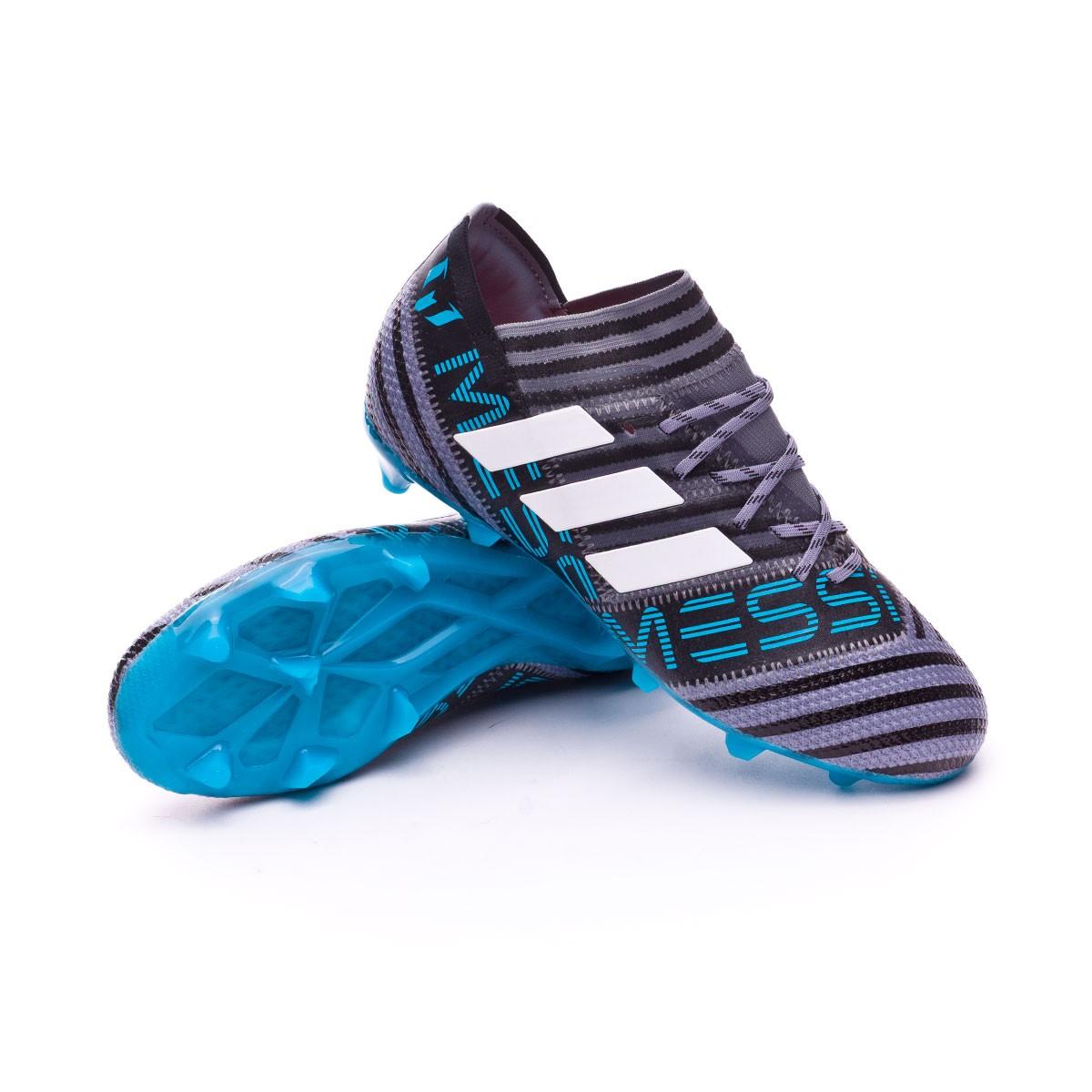 Bota de fútbol adidas Nemeziz Messi 17.1 FG Niño Grey-White-Core ... 3413c20514015