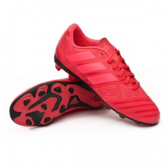 Bota  adidas Nemeziz 17.4 FxG Niño Real coral-Red zest-Core black