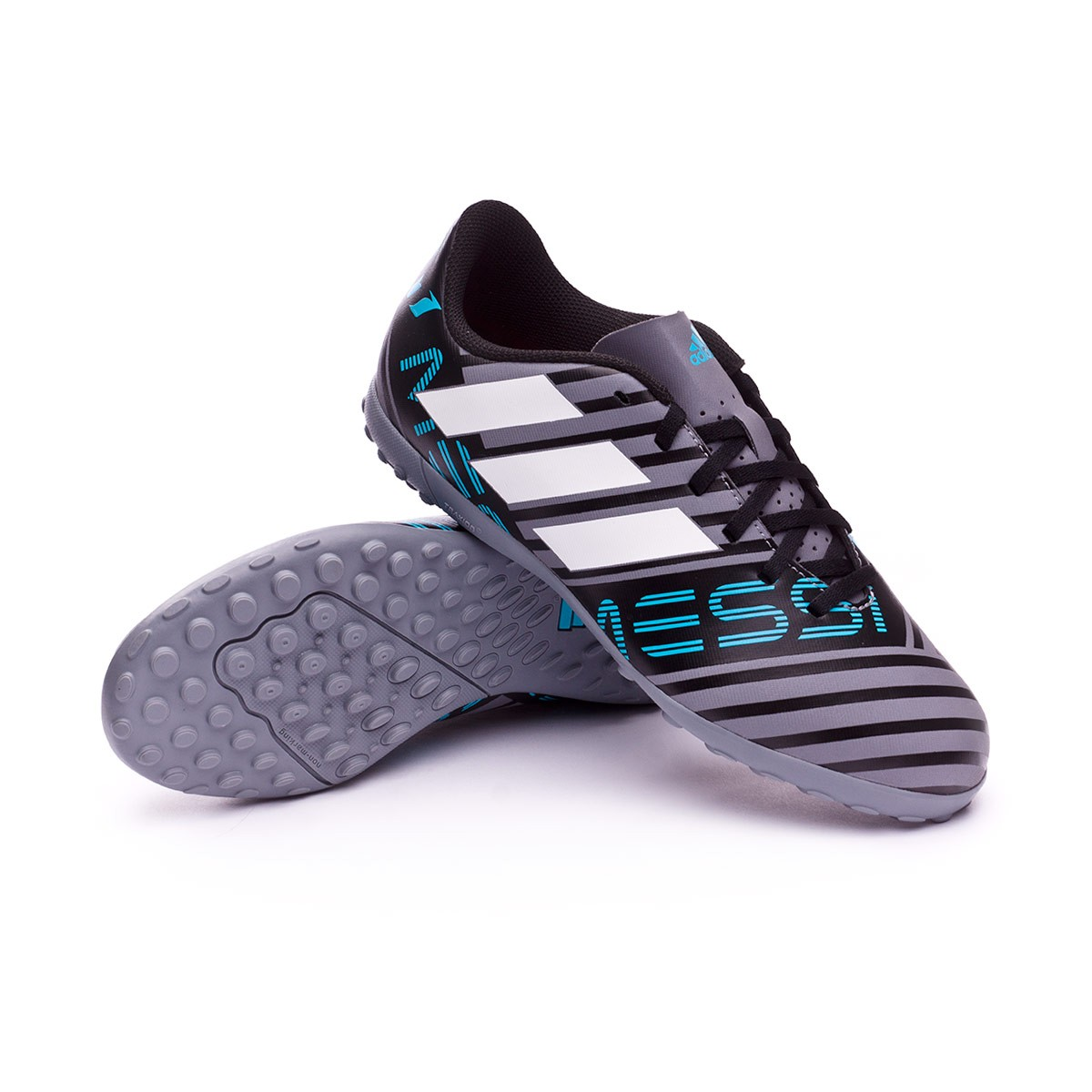 12bfa0dc97d Football Boot adidas Kids Nemeziz Messi Tango 17.4 Turf Grey-White ...