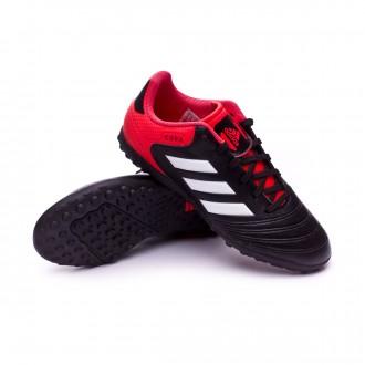 Chaussure  adidas Copa Tango 18.4 Turf Niño Core black-White-Real coral