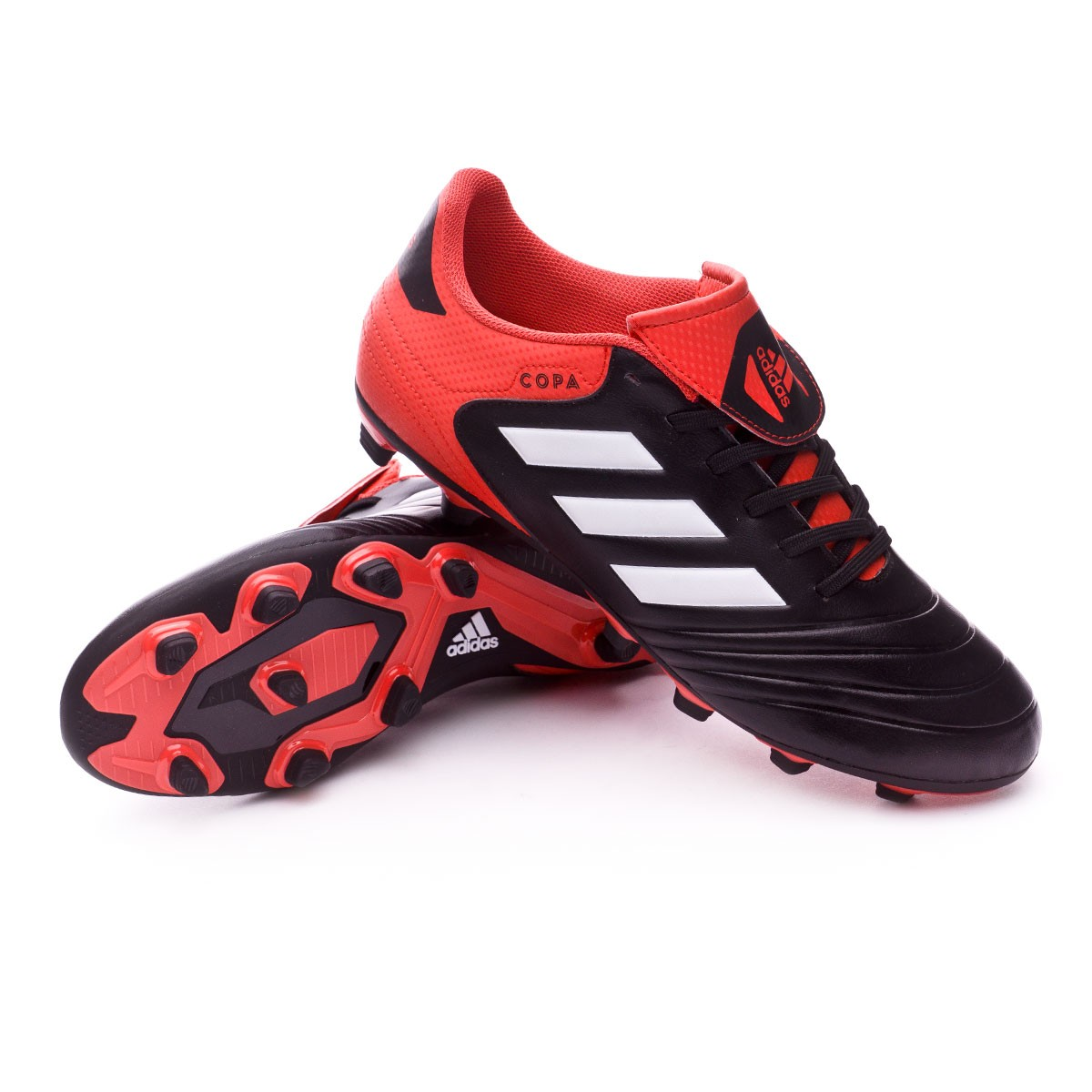 Boot adidas Copa 18.4 FxG Core black-White-Real coral - Football ... 749c1089becab