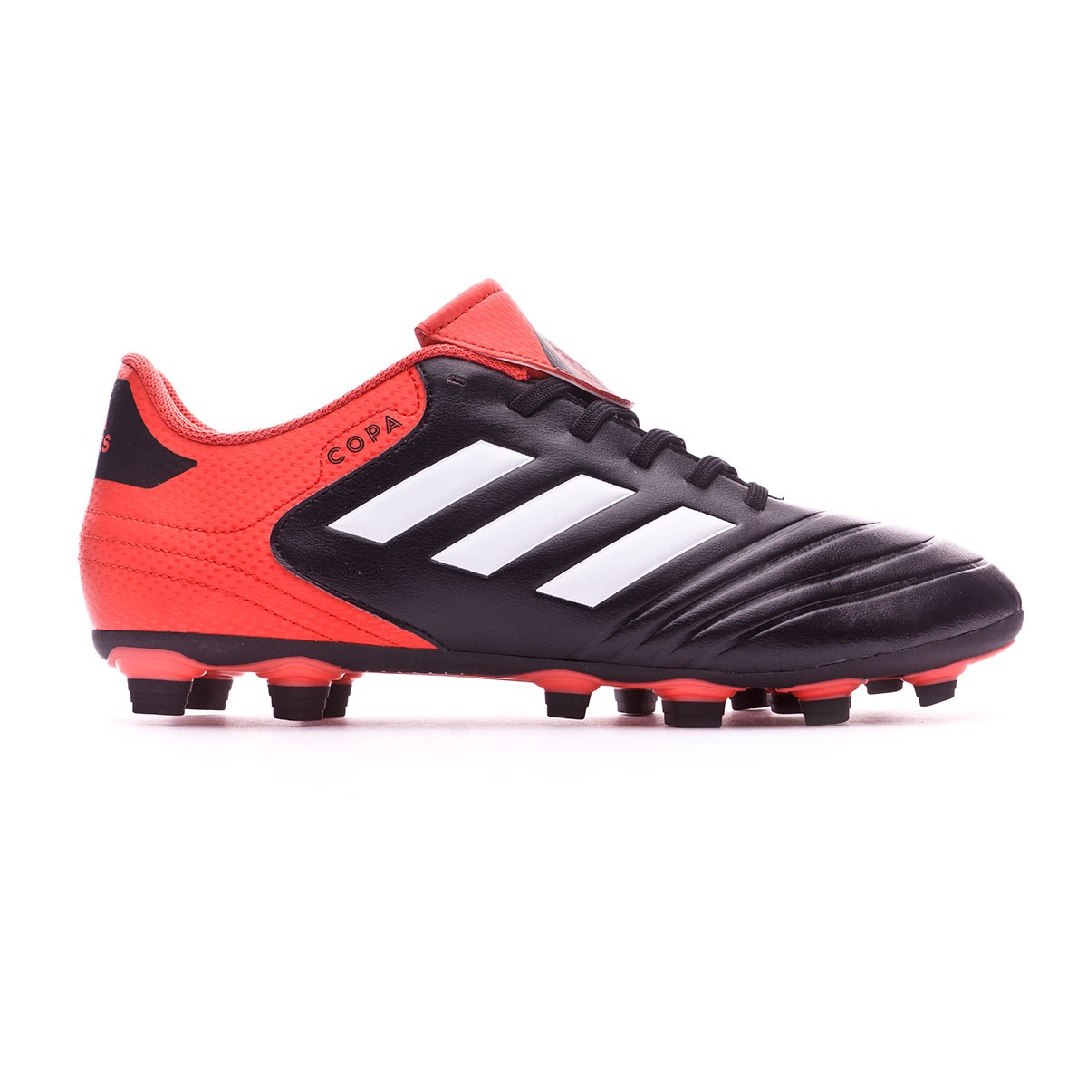 buy online 05ed6 328f6 Football Boots adidas Copa 18.4 FxG Core black-White-Real coral - Football  store Fútbol Emotion
