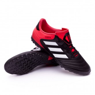 Zapatilla  adidas Copa Tango 18.4 Turf Core black-White-Real coral
