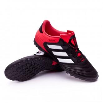 Chaussure  adidas Copa Tango 18.4 Turf Core black-White-Real coral