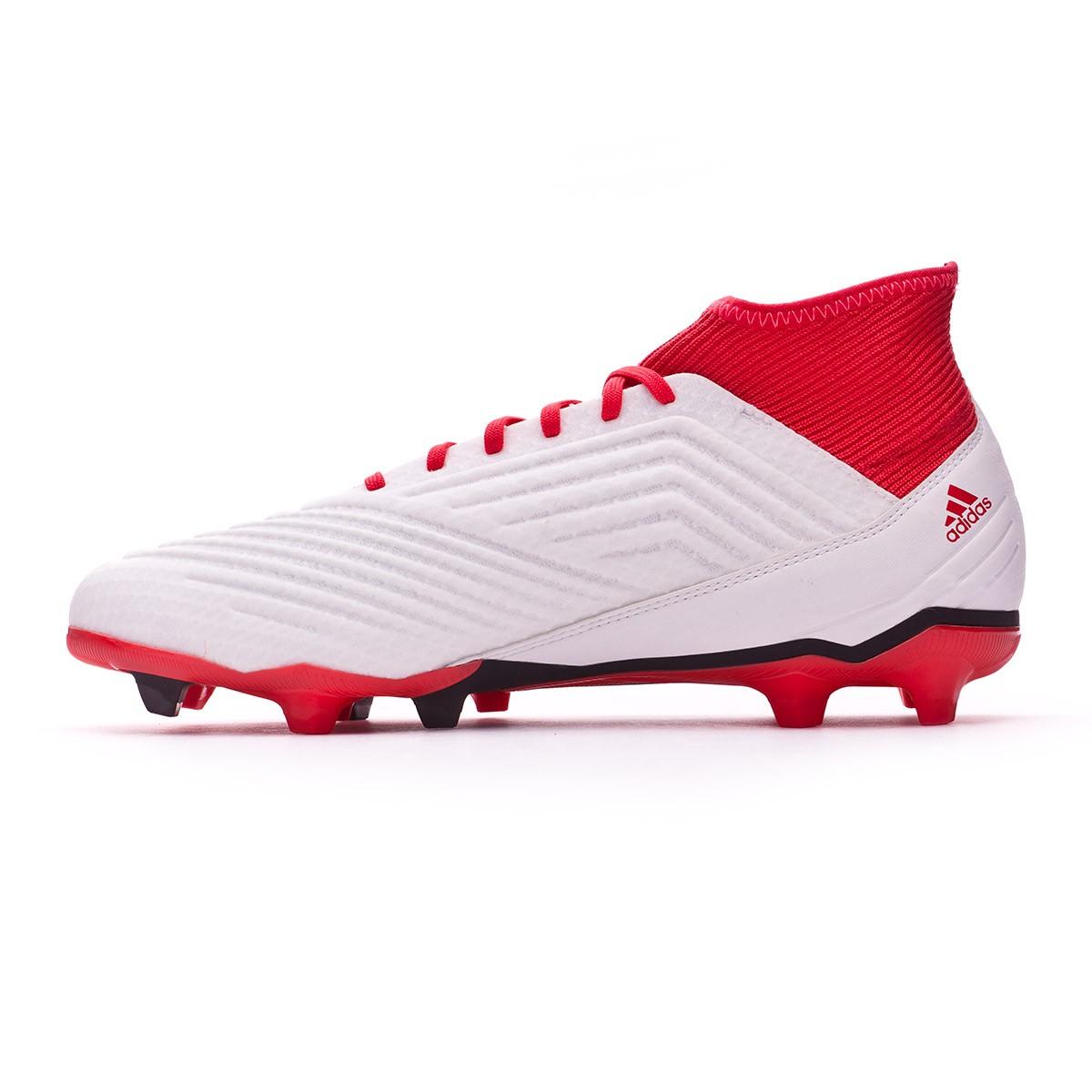 d26feaf46d599 Zapatos de fútbol adidas Predator 18.3 FG White-Core black-Real coral -  Tienda de fútbol Fútbol Emotion