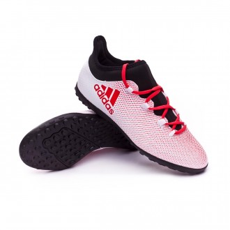 Zapatilla  adidas X Tango 17.3 Turf Niño Grey-Real coral-Core black