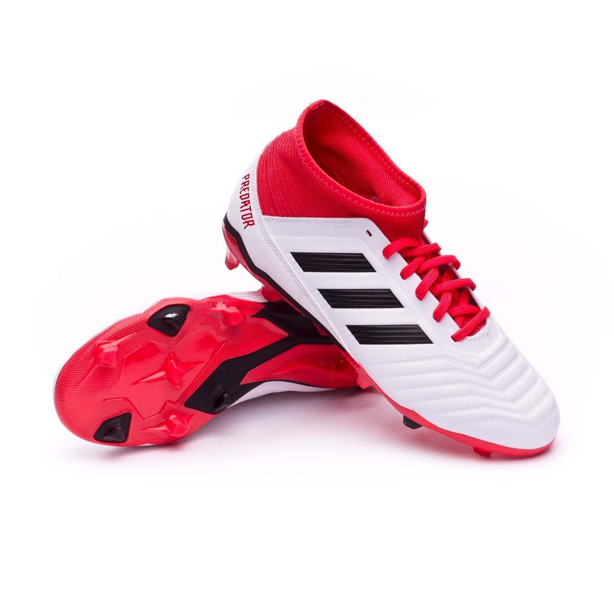 sale retailer cb1d3 d145c ... Bota Predator 18.3 FG Niño White-Core black-Real coral. CATEGORY. Football  boots · adidas football boots