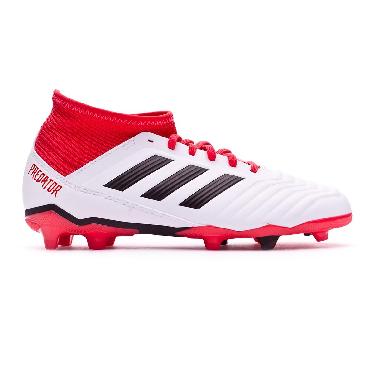 384c8d772e149 Zapatos de fútbol adidas Predator 18.3 FG Niño White-Core black-Real coral  - Tienda de fútbol Fútbol Emotion
