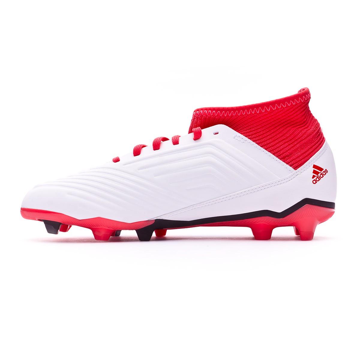 Zapatos de fútbol adidas Predator 18.3 FG Niño White-Core black-Real coral  - Soloporteros es ahora Fútbol Emotion e51c6b00f90e2