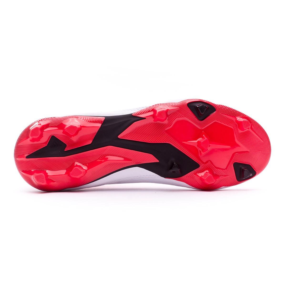 4d9154008e2 Football Boots adidas Kids Predator 18.3 FG White-Core black-Real coral -  Football store Fútbol Emotion