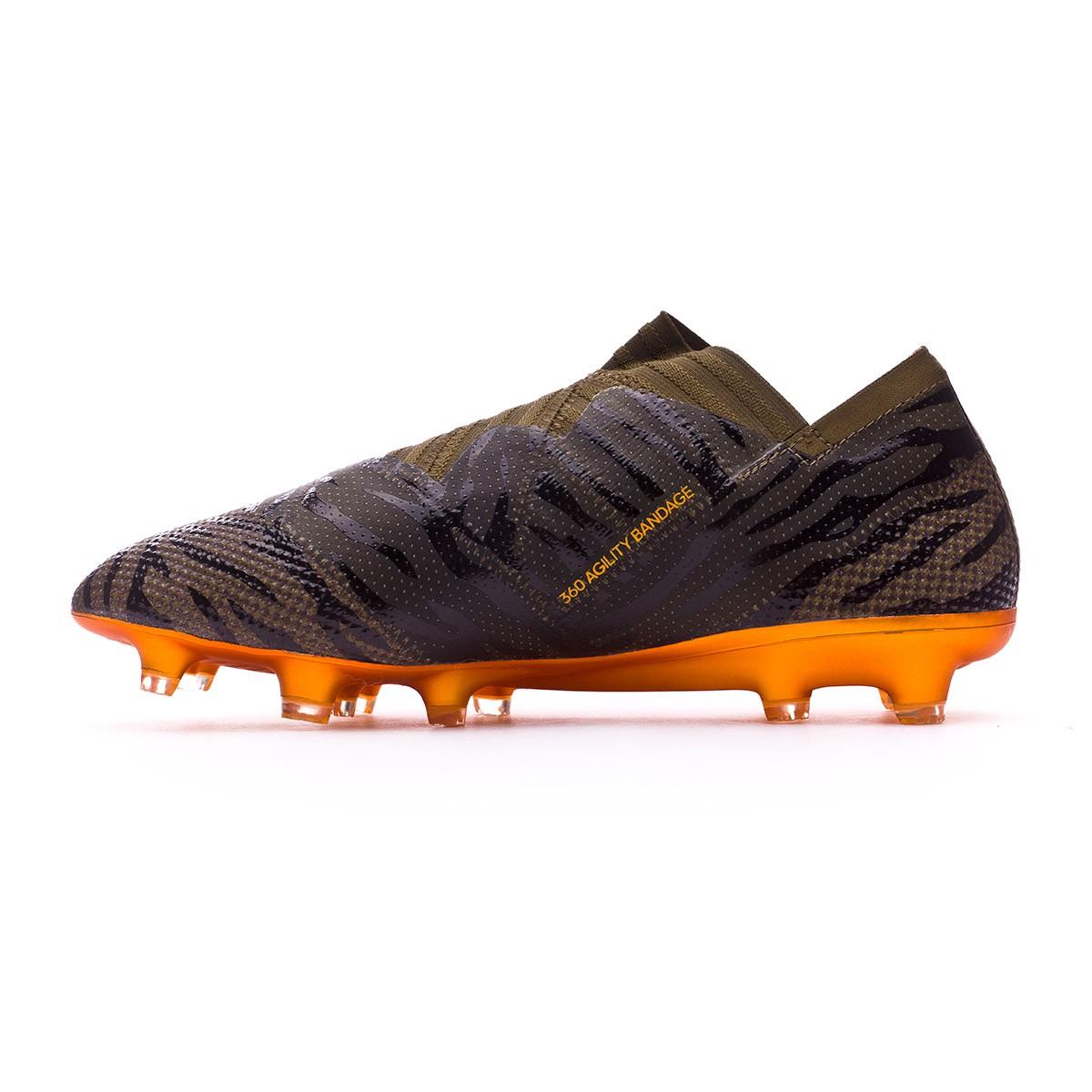 8c585f716f76 Football Boots adidas Nemeziz 17+ 360 Agility FG Trace olive-Bright  orange-Core black - Tienda de fútbol Fútbol Emotion