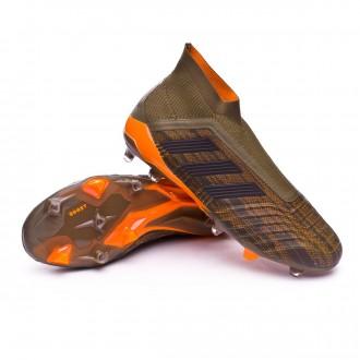 Chuteira  adidas Predator 18+ FG Trace olive-Core black-Bright orange