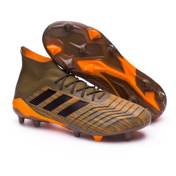 e73a6ccbf Football Boots adidas Predator 18.1 FG Trace olive-Core black-Bright orange  - Tienda de fútbol Fútbol Emotion