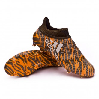 Chuteira  adidas X 17+ Purespeed FG Bright orange-Talc-Trace olive