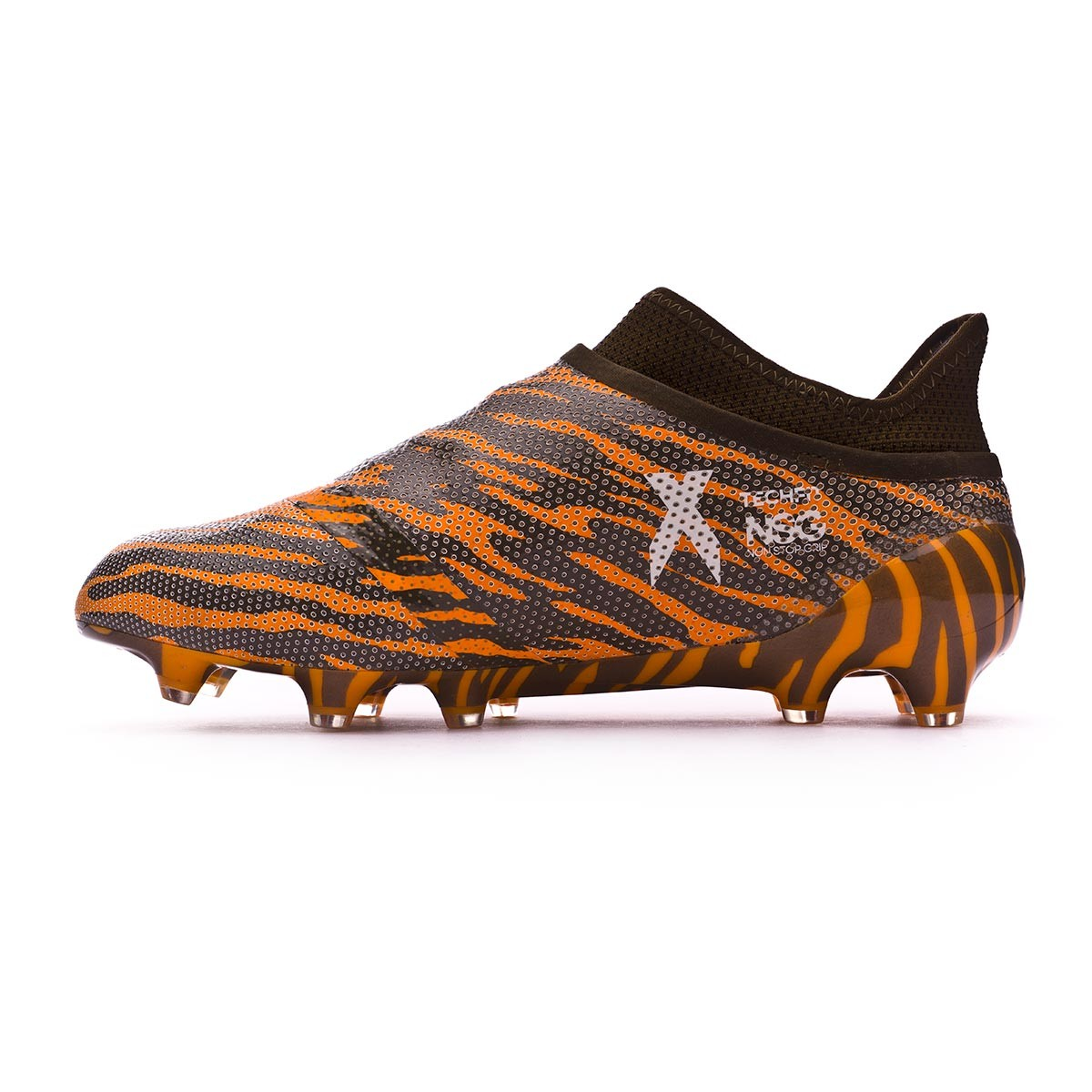 sports shoes f67c0 5f444 Boot adidas X 17+ Purespeed FG Bright orange-Talc-Trace olive - Football  store Fútbol Emotion