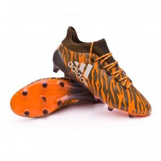 Chuteira  adidas X 17.1 FG Bright orange-Talc-Trace olive