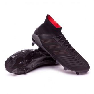 Chuteira  adidas Predator 18.1 FG Core black-Real coral