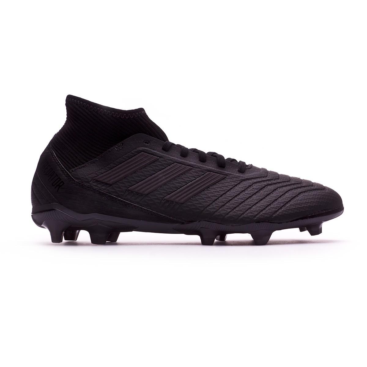 Prédateur Adidas 18,3 Fg Taquet De Football - Noyau Noir / Noyau Noir / Noir Utilité