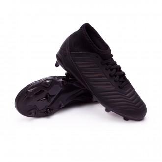 Chuteira  adidas Predator 18.3 FG Crianças Core black-Real coral