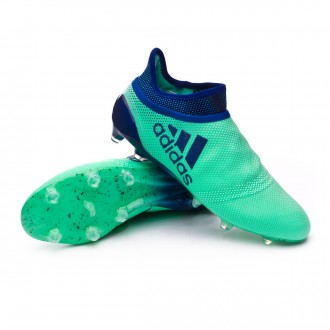 Chaussure de football  adidas X 17+ Purespeed FG Aero green-Unity ink-Hi-res green
