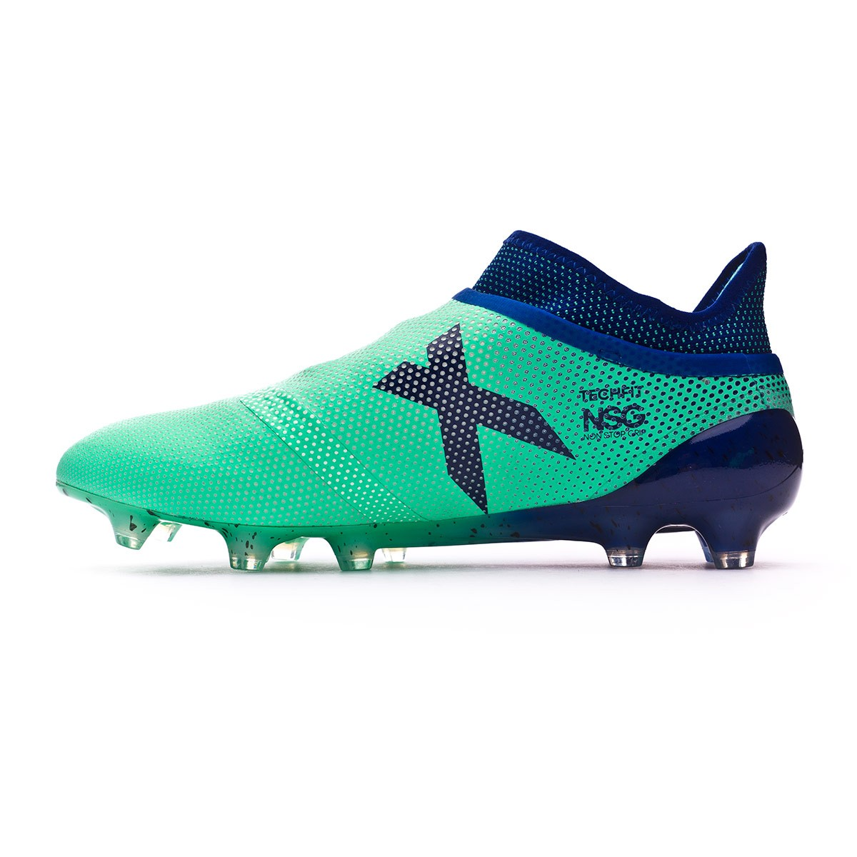Bota X 17+ Purespeed FG Aero green-Unity ink-Hi-res green
