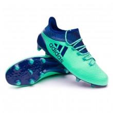 save off 56c4e bdfc6 Bota de fútbol adidas X 17.1 FG Aero green-Unity ink-Hi-res green ...
