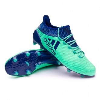 Chaussure de football  adidas X 17.1 FG Aero green-Unity ink-Hi-res green