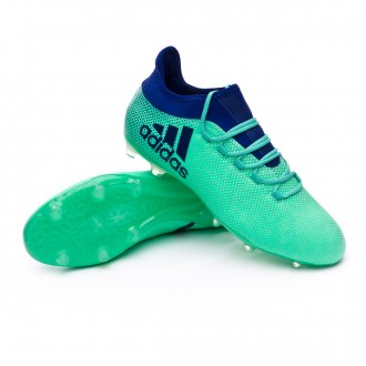 Chaussure de football  adidas X 17.2 FG Aero green-Unity ink-Hi-res green