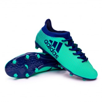 Chaussure de football  adidas X 17.3 FG Aero green-Unity ink-Hi-res green