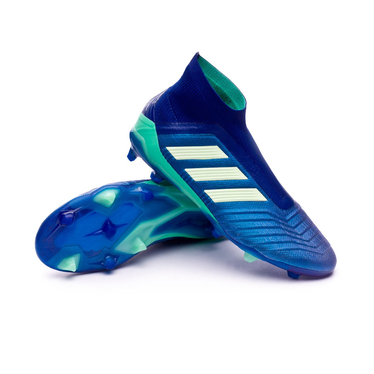 7a2ad69da9b6 Football Boots adidas Kids Predator 18+ FG Unity ink-Aero green-Hi ...
