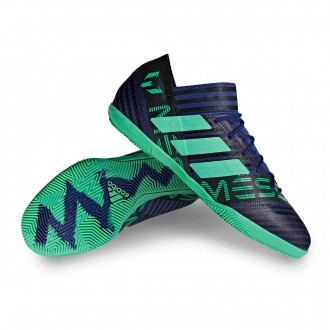 Chaussure de futsal  adidas Nemeziz Messi Tango 17.3 IN Unity ink-Hi-res green-Core black