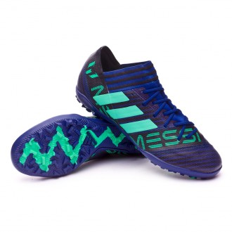 Chaussure de football  adidas Nemeziz Messi Tango 17.3 Turf Grey-Hi-res green-Core black