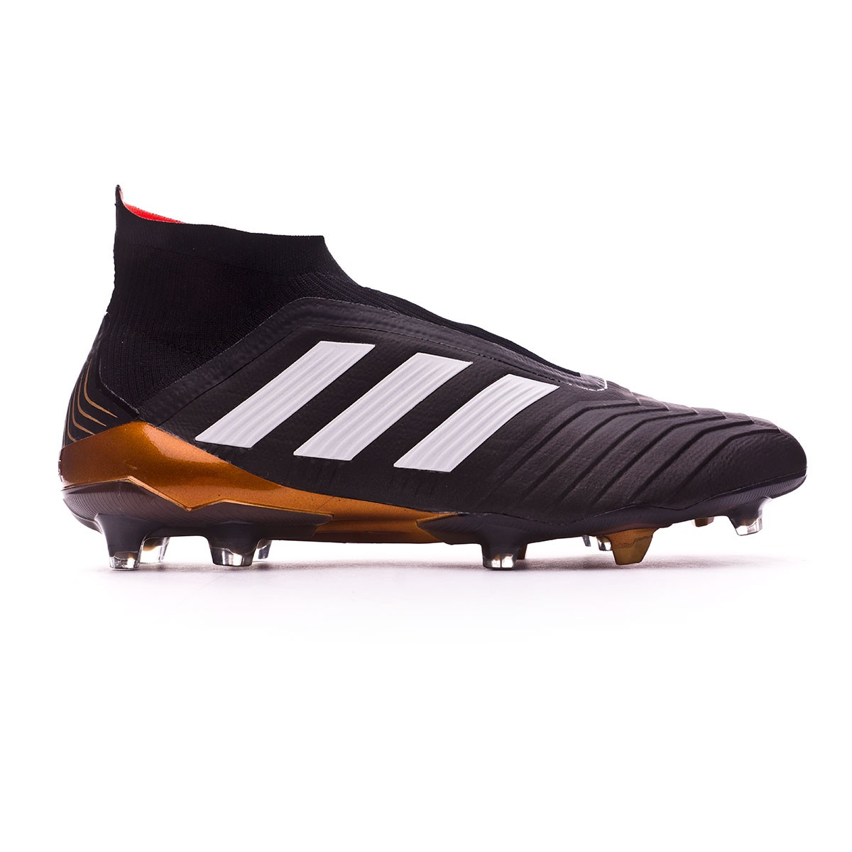 best sneakers 06df6 51e93 Football Boots adidas Predator 18+ FG Core black-White-Gold metallic-Solar  red - Football store Fútbol Emotion