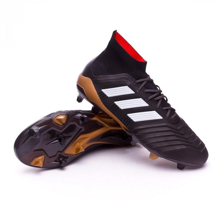1b734f805a2 Bota de fútbol adidas Predator 18.1 FG Core black-White-Gold ...