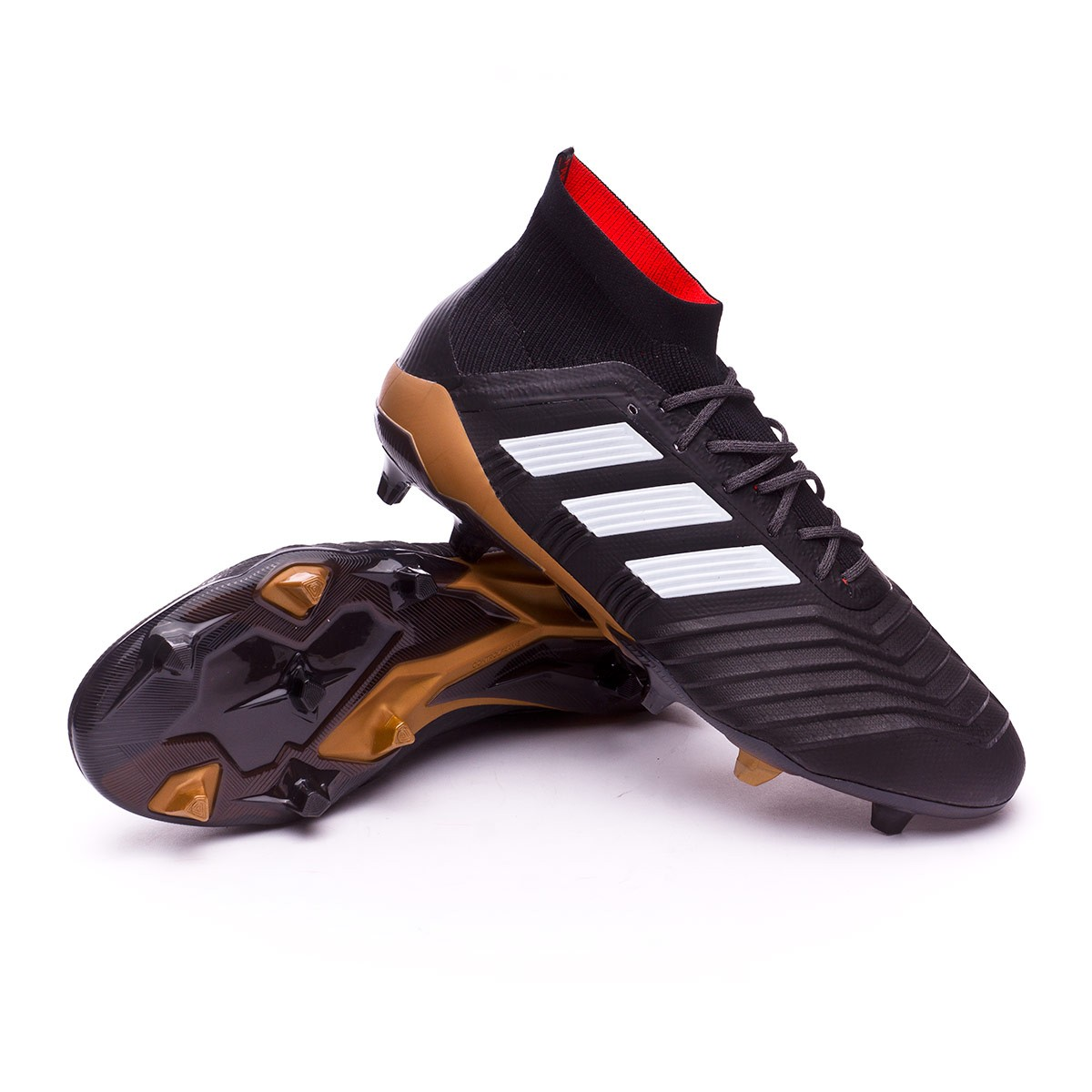 34b565a30ce6 ... official boot adidas predator 18.1 fg core black white gold metallic  solar b7ead ea986